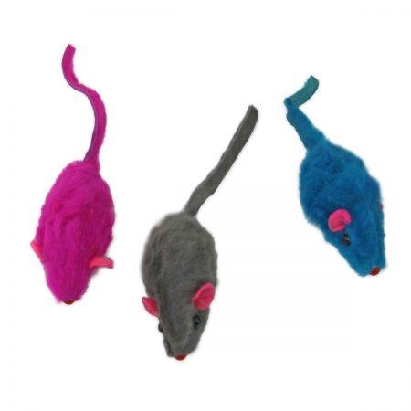 Мышка меховая гремящая (Туба: 100 шт.)