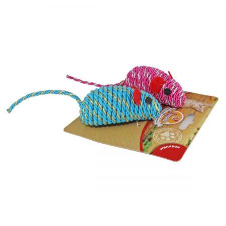 Мышка гремящая плетеная (2 шт.)